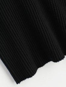 Camiseta Negro Punto Mangas Sin De Elastizada rHngRrq1