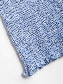 Smocked Marino Stripes Hombro Off M Arriba Azul gOdAFw