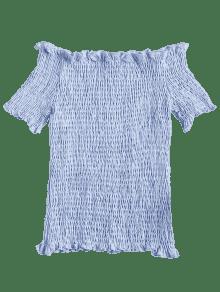Smocked Arriba M Stripes Off Hombro Marino Azul xH0nZRqZw