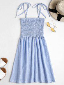فستان مصغر مخطط  - البحر الأزرق Xl