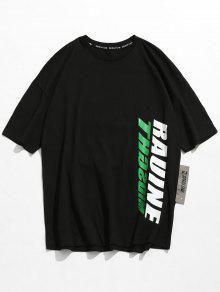 Hombros Con 243;n Algod Con Estampado Camiseta Ca De wqIgYHX
