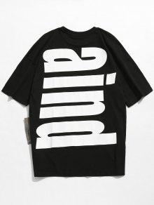 243;n Estampado Ca Camiseta Algod Con De Hombros Con Wz66ZxP