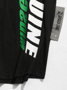 Ca Camiseta De Estampado Hombros 237;dos Con Negro Con M 243;n Algod rpqr40ncg