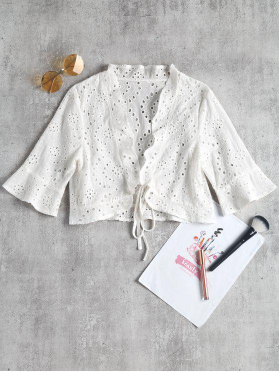 Blusa de cultivo hueco - Blanco L