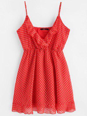 Mini-robe en Mousseline à Pois à Bretelles
