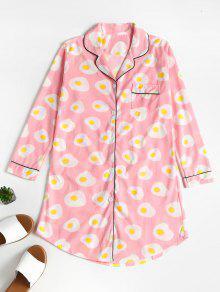 Graphic Button Up Sleepwear Top