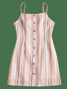 De S Rosa Abierta Vestido Rayas A Cami Claro Espalda 8f5aw