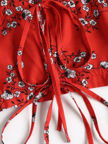 S Hombro Del Floral Y 243;n Fuera Superior Rojo Pantal Conjunto 1Unw4Pw
