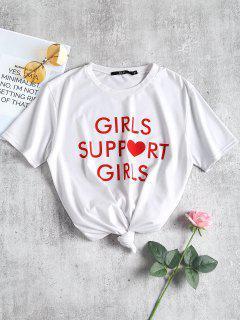 T-shirt à Imprimé De Slogan à Col Rond - Blanc S