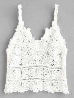 Crochet Tank Top - White