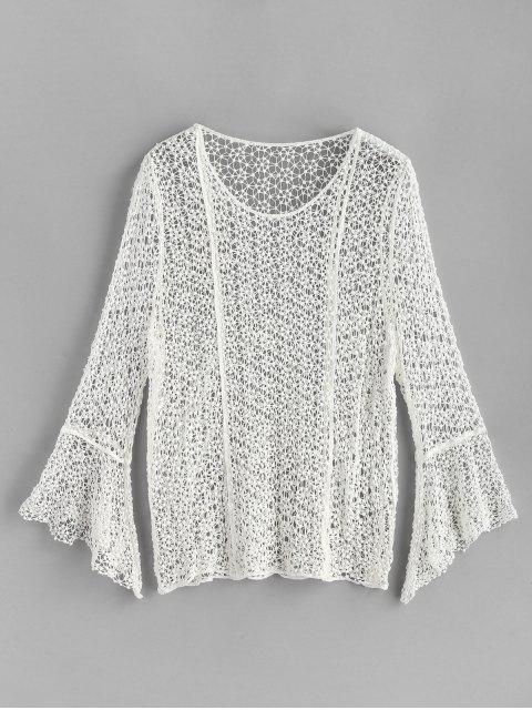 Haut en Crochet avec Poignées Évasées - Blanc Taille Unique Mobile