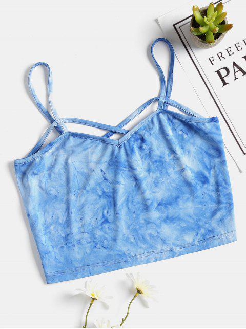 Top sin mangas Tie Dye de Criss Cross - Azul L Mobile