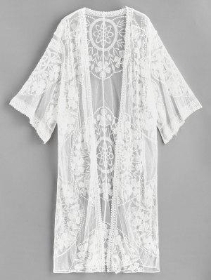 Kimono bordado de malla
