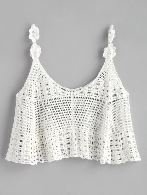 Cropped Crochet Tank Top