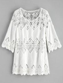 الكروشيه لوحة بيتش اللباس - أبيض