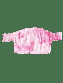 Rosado Tie Sin Efecto Camiseta Dye M Mangas Con SzwxqY