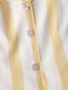 Button Top Stripes De De Mazorca Amarillo Up S Tank Ma 237;z TxnRqaAZ