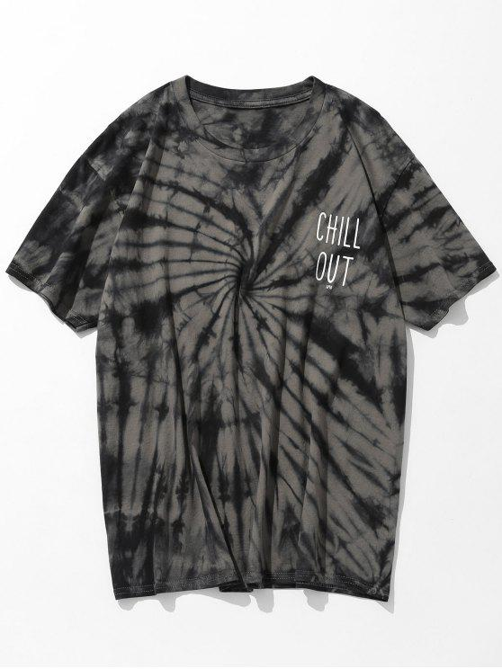 outfits Short Sleeve Tie Dye Print T-shirt - TAUPE 3XL