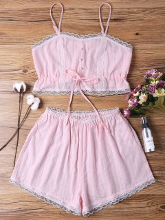 Sleep Short Camisole And Shorts - Pink L
