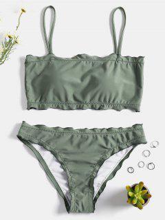 Volant Trim Cami Bikini Set - Grüner Frosch S