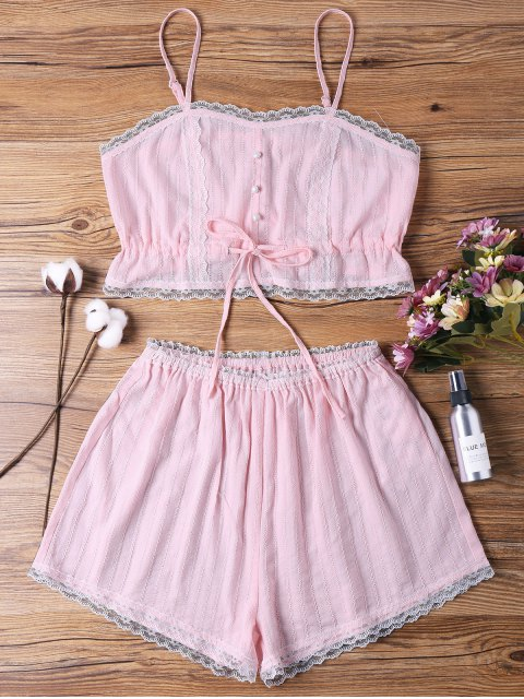 shops Sleep Short Camisole and Shorts - PINK S Mobile