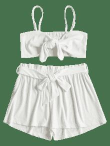 Back Tie Set Blanco Front S Smocked STwzT