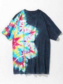 Dye Algod Camiseta Verde Colorida Tie De Azul Xl 243;n ORgRWrXB