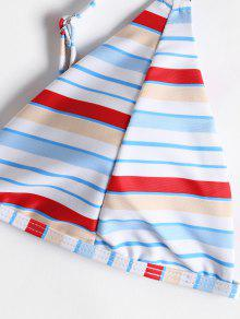 8d1201c401b 68% OFF] 2019 Striped Thong String Bikini Set In MULTI | ZAFUL