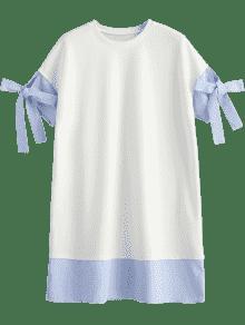 A Rayas Recto Blanco S Vestido 5ZPnfUq
