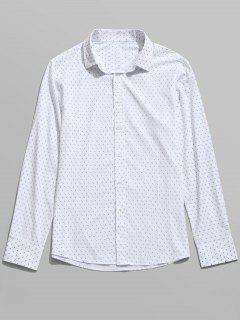 Chemise Imprimée à Manches Longues - Blanc 3xl