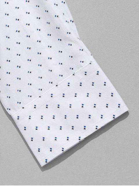 Camisa estampada de manga larga - Blanco 2XL Mobile