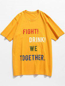 Slogan Mostaza T M Cotton Pattern Letter shirt UqZUTf8