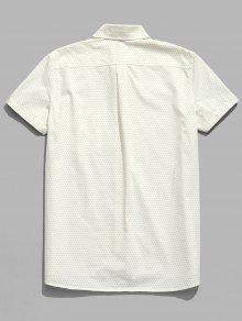 Algod Lunares De Cortas De Con Camisa Cream M 243;n Mangas tUqZpa