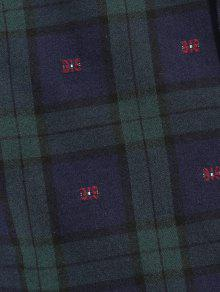 De Camisa Guerra Marina Manga M Cuadros Botones Con Larga A De 6dzdrxwAq