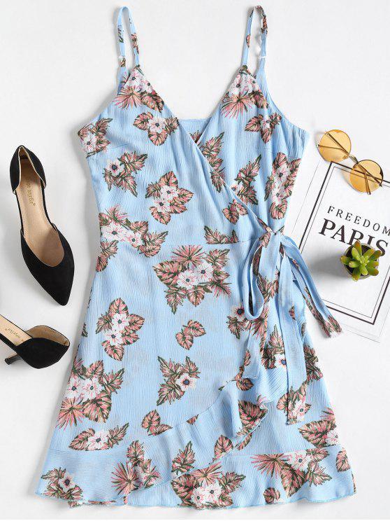 Vestido con volantes florales - Windows Azul S