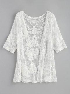 Sheer Kimono Top - White