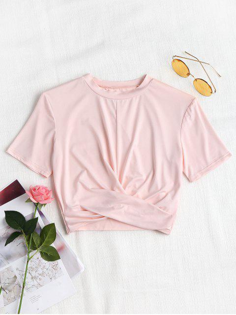 unique Cropped Twisted Top - PINK BUBBLEGUM S Mobile