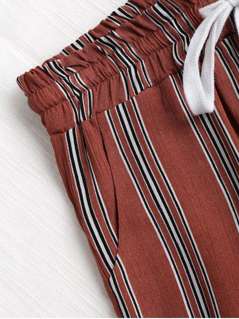 Short Rayé Taille Haute - Châtaigne M Mobile