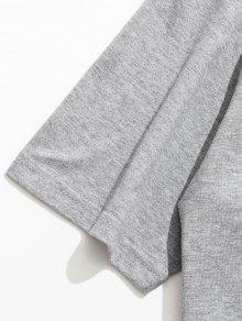 M Camiseta Corta Gris De Perros Estampado Manga De Claro Con Animal qqTgx6vC