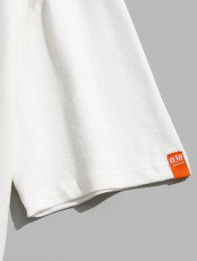 Estampado De Con Algod Corta Blanco 243;n Camiseta L Manga fqw7vvzt