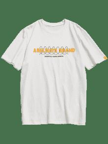 Camiseta Estampado L Blanco Corta De Manga Algod Con 243;n PZxrPwOR