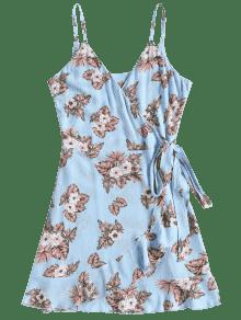 Florales Con L Windows Vestido Volantes Azul 4n8TOqqgW7