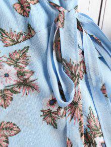 Windows Florales Volantes L Azul Con Vestido 17FwqZU