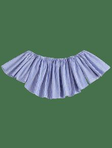 Stripes Top Off Shoulder Shoulder Azul Azul Top Off Stripes Stripes xUUgw6Ed