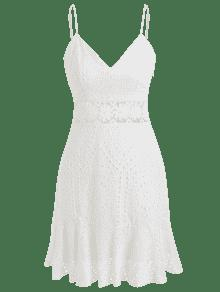 Anglaise Blanco M Party Dress Sun Broderie TRIndx4wT