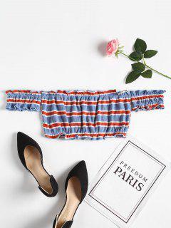 Striped Ruffles Knitted Tee - Multi M