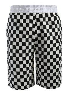 Grid Pattern Casual Shorts - Multi Xl