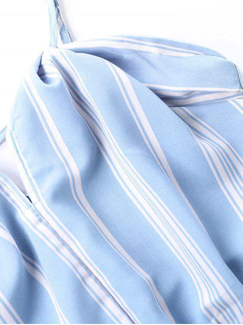 24ee97c73 Vestido maxi de dos piezas a rayas alto bajo