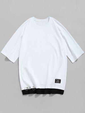 T-shirt ras du cou en coton à œillets