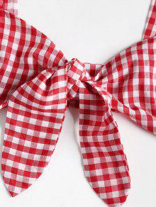 Conjunto De Rojo Amo Gingham Juego De Y Pantalones De Top Cortos S 1FqtxpF